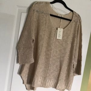Natural Breathable V-neck Sweater Sm/Med
